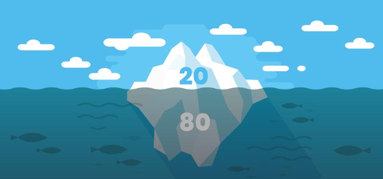 zasada-pareto-gora-lodowa