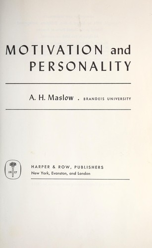 Piramida Maslowa hierarchia potrzeb Abraham Maslow książka